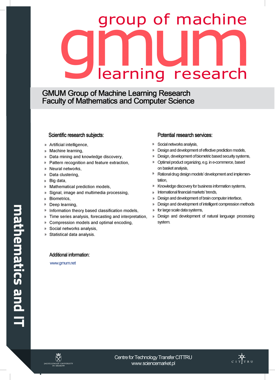 GMUM Group of Machine Learning Research, Faculty of